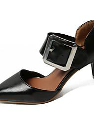 cheap -Women's Sandals Stiletto Heel PU(Polyurethane) Comfort Summer White / Black / Yellow