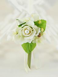 "cheap -Wedding Flowers Boutonnieres / Unique Wedding Décor Special Occasion / Party / Evening / Engagement Silk / Cotton 1.57""(Approx.4cm)"