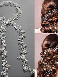 cheap -Pearl / Crystal Headbands / Headwear / Head Chain with Floral 1pc Wedding / Special Occasion Headpiece