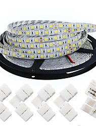 cheap -KWB LED Light Strips 5050 5M 300 leds 10mm 4200 lm Warm White /White(DC 12V) With 5PCS 5050 Strip Light Connector
