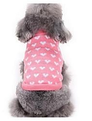 Недорогие -Собака Свитера Одежда для собак Мультипликация Розовый Шелковая ткань / Пух / Хлопок Костюм Для домашних животных Муж. / Жен. На каждый день / Мода