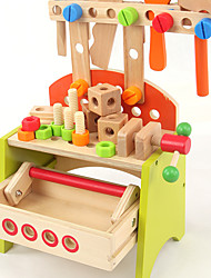 cheap -Construction Tool Toy Tool Tool Box Safety Wooden Kid's Boys' Toy Gift