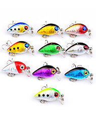 cheap -10 pcs Fishing Lures Hard Bait Crank Lure Packs Floating Sinking Bass Trout Pike Bait Casting Lure Fishing Hard Plastic Plastic