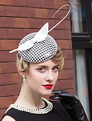 cheap -Feather Polyester Headpiece-Wedding Special Occasion Casual Office & Career Hats 1 Piece