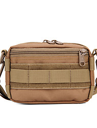 cheap -15 L Shoulder Messenger Bag Multifunctional Waterproof Wearable Shockproof Outdoor Camping / Hiking Traveling Brown