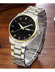 cheap -Men's Fashion Watch Quartz Stainless Steel Silver / Gold Analog Black / Gold Black / Silver White / Gold