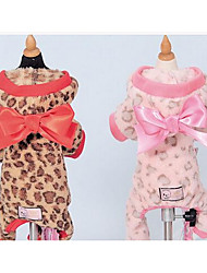 cheap -Dog Coat Dog Clothes Color Block Brown Pink Cotton Costume For Winter Men's Women's Fashion