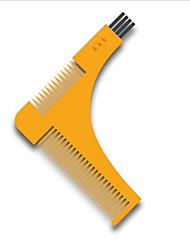 cheap -1Pcs Beard Bro Hair Trimmers Hair Care Styling Man Gentleman Beard Trim Template Hair Cut Molding Hair Clipper Beard Modelling Tools Color Random