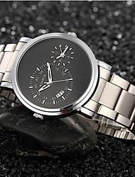 cheap -Men's Fashion Watch Quartz Black / Silver Analog Black Black / Silver White / Silver