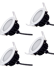 cheap -ZDM 4pcs Dimmable Waterproof IP66 12W 1000-1100lm 60 x 5730 SDM LEDs High Quality Commercial Lighting Downlights Warm White / Cold White AC220-240V