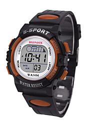 Недорогие -Муж. Спортивные часы электронные часы Цифровой силиконовый Черный 30 m Цифровой Оранжевый Синий