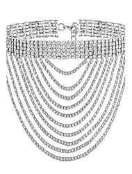 cheap -Women's Choker Necklace Stacking Stackable Liquid Silver Necklace Ladies Fashion Gold Plated Imitation Diamond Gold Silver Necklace Jewelry For Party Special Occasion Gift Daily