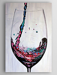 cheap -Oil Painting Hand Painted - Still Life Modern Stretched Canvas