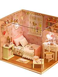 cheap -Dollhouse DIY Furniture Wooden Men's Unisex Toy Gift