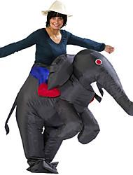 cheap -Elephant Cosplay Costume Halloween Props Inflatable Costume Men's Women's Movie Cosplay Halloween Gray & Black Leotard / Onesie Air Blower Halloween Polyester / Waterproof  Costume