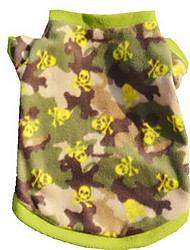cheap -Dog Vest Dog Clothes Green Costume Cotton Letter & Number Casual / Daily XS S M L