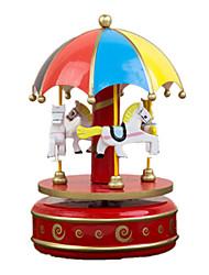 cheap -Music Box Toys Circular Wood Pieces Unisex Gift