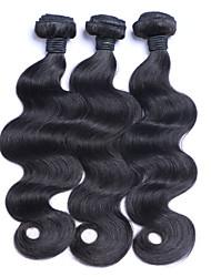 cheap -3 Bundles Brazilian Hair Body Wave Human Hair Natural Color Hair Weaves / Hair Bulk Human Hair Weaves Human Hair Extensions / 8A