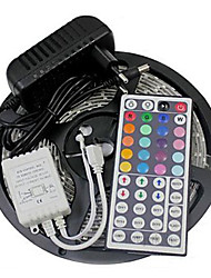 cheap -ZDM 5M 300 x 2835 8mm RGB Waterproof LED Strips Light Flexible and IR 44Key Remote Control with EU/US12V2A Power AC100-240V