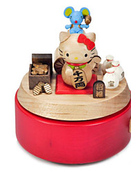 cheap -Music Box Toys Square Wood Pieces Not Specified Gift