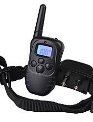cheap -Dog Bark Collar Dog Training Collars Anti Bark Rechargeable LCD Display Solid Colored Plastic Nylon Black