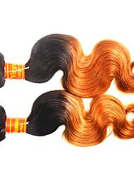 Недорогие -Малазийские волосы Естественные кудри человеческие волосы Remy 200 g Омбре Омбре Ткет человеческих волос Расширения человеческих волос / Короткие
