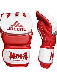 Недорогие -Боксерские перчатки Для Бокс Без пальцев Защитный Кожа Белый / Черный