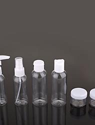 cheap -6pcs Travel Bottles Set Travel Kit Pump Bottle Large Capacity Portable Toiletries Durable Travel Silica Gel Plastic Gift For /