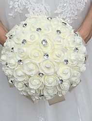"cheap -Wedding Flowers Bouquets Wedding Rhinestone / Foam 11.02""(Approx.28cm)"