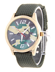 cheap -Men's Fashion Watch Quartz Fabric Band Casual Brown Green