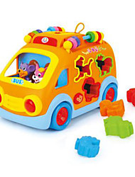 cheap -HUILE TOYS Toy Car DIY Electric Bus Plastic Boys' Toy Gift