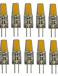 cheap -1.5 W LED Bi-pin Lights 100-150 lm G4 T 1 LED Beads COB Decorative Warm White White 220 V / 10 pcs / RoHS
