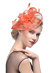 cheap -Tulle / Feather Kentucky Derby Hat / Fascinators / Headwear with Floral 1pc Wedding / Special Occasion / Horse Race Headpiece