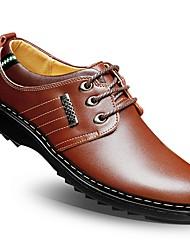 cheap -Men's Formal Shoes Synthetics Summer / Fall Oxfords Walking Shoes Black / Navy Blue / Brown / Wedding / Split Joint / Comfort Shoes / EU40