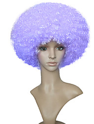 cheap -Synthetic Wig Afro Afro Bob Wig Short Purple Synthetic Hair Women's African American Wig Purple