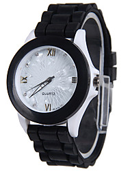 cheap -Women's Fashion Watch Quartz Silicone Band Casual Black Navy Rose