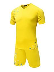 abordables -Homme Football Hauts / Top Respirable Vestimentaire Confortable Football Couleur Pleine Bleu clair Jaune Rouge