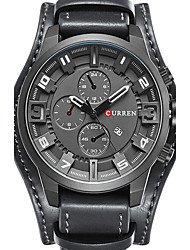 cheap -CURREN Men's Wrist Watch Aviation Watch Analog Charm Calendar / date / day Creative Cool / Two Years / Stainless Steel / Genuine Leather / Japanese