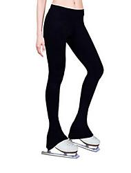 cheap -Figure Skating Pants Women's Ice Skating Black Elastane Velvet High Elasticity Activewear Competition Skating Wear Thermal / Warm Skating / Kid's