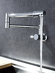 cheap -Kitchen faucet - Single Handle One Hole Chrome Pot Filler Wall Mounted Contemporary Kitchen Taps