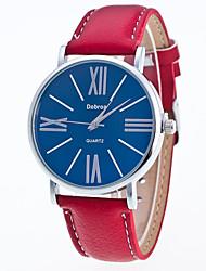 cheap -Men's Wrist Watch Quartz Leather Black / White / Red Casual Watch Analog Casual Fashion - Black / White White / Red White / Brown