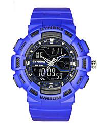 cheap -Men's Fashion Watch Quartz Silicone Black / White / Blue Analog - Digital Black Green Blue