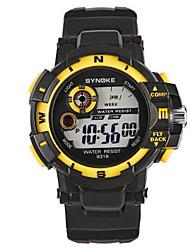 Недорогие -Муж. Модные часы Цифровой силиконовый Черный Цифровой Черный / Красный Черный / Желтый Черный / Синий