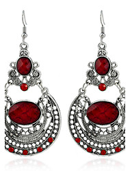 cheap -Women's Crystal Simple Style Fashion Earrings Jewelry Black / Red For Wedding Party Birthday Gift