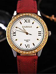 cheap -Women's Fashion Watch Quartz Analog Black Yellow Red