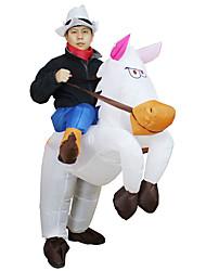 cheap -Horse Cosplay Costume Halloween Props Inflatable Costume Men's Women's Movie Cosplay Halloween Leotard / Onesie Air Blower Halloween New Year Polyester