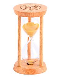 cheap -Small Hourglass Pendulum Countdown 1/3 / 5 Minutes Time Mini Glass Wood Gift