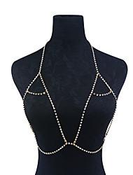 abordables -Femme Bijoux de Corps Chaîne de Corps Dorée / Argent Forme Géométrique Mode Strass Bijoux de fantaisie Pour Occasion spéciale / Décontracté / Sports Été