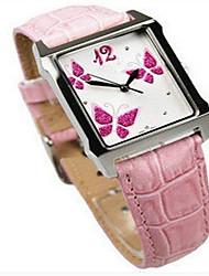 cheap -Women's Fashion Watch Quartz Genuine Leather Black / White / Pink 30 m Analog White Black Pink