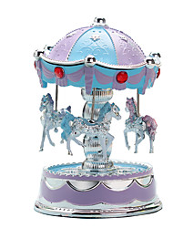 cheap -Music Box Carousel Music Box European Style Carousel Merry Go Round Cute Lighting Unique Plastic Women's Unisex Girls' Kids Kid's Adults Graduation Gifts Toy Gift